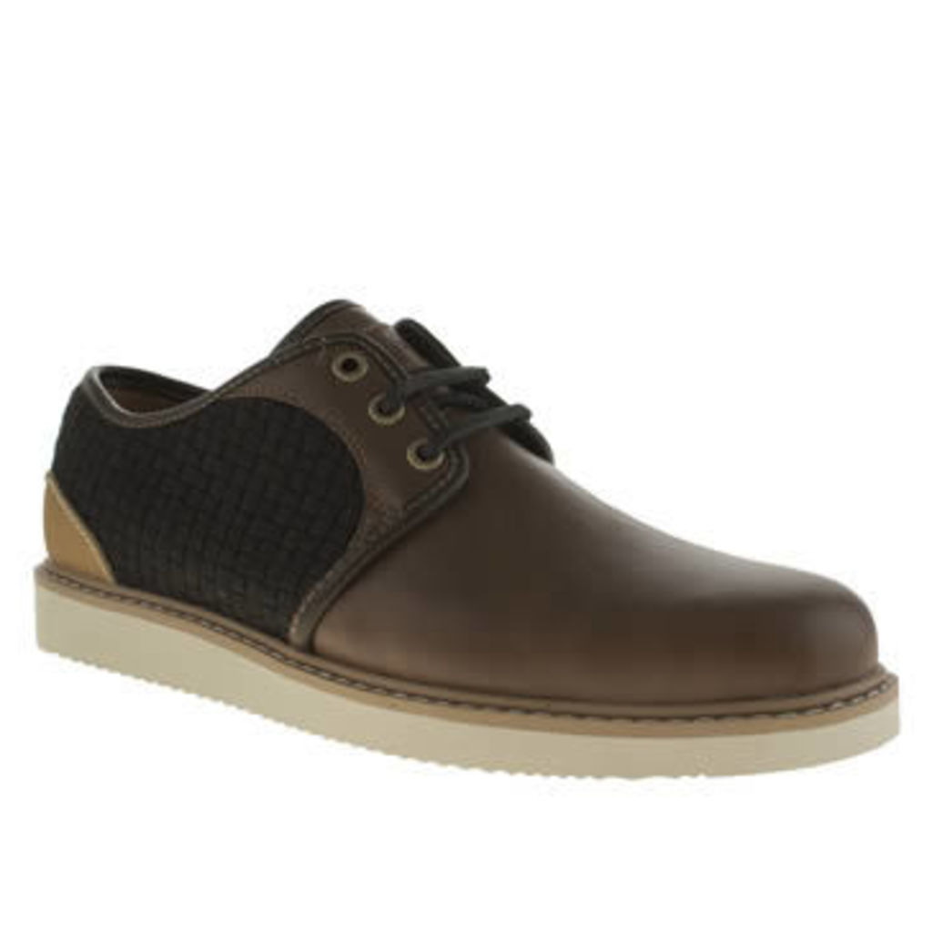 Timberland Brown Newmarket Mixed Oxford Mens Shoes