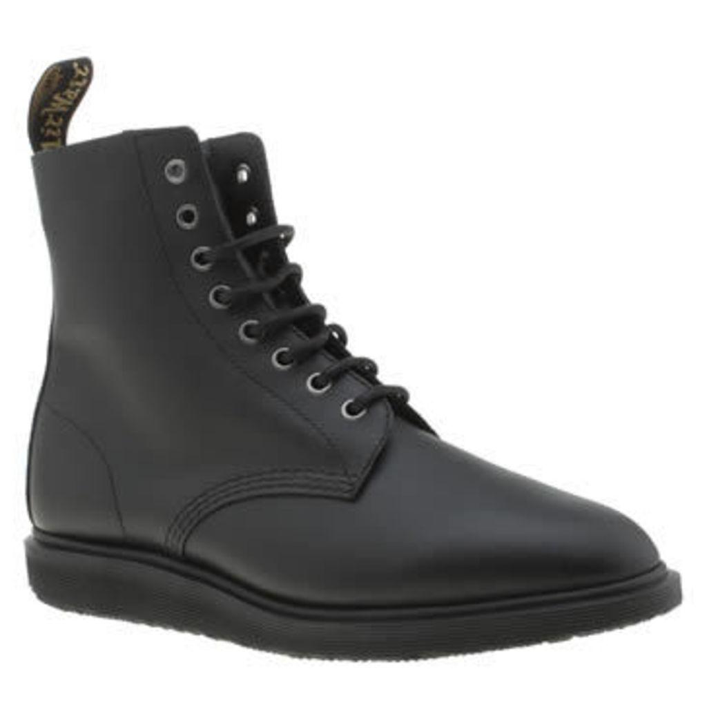 Dr Martens Black Whiton 8 Eye Mens Boots