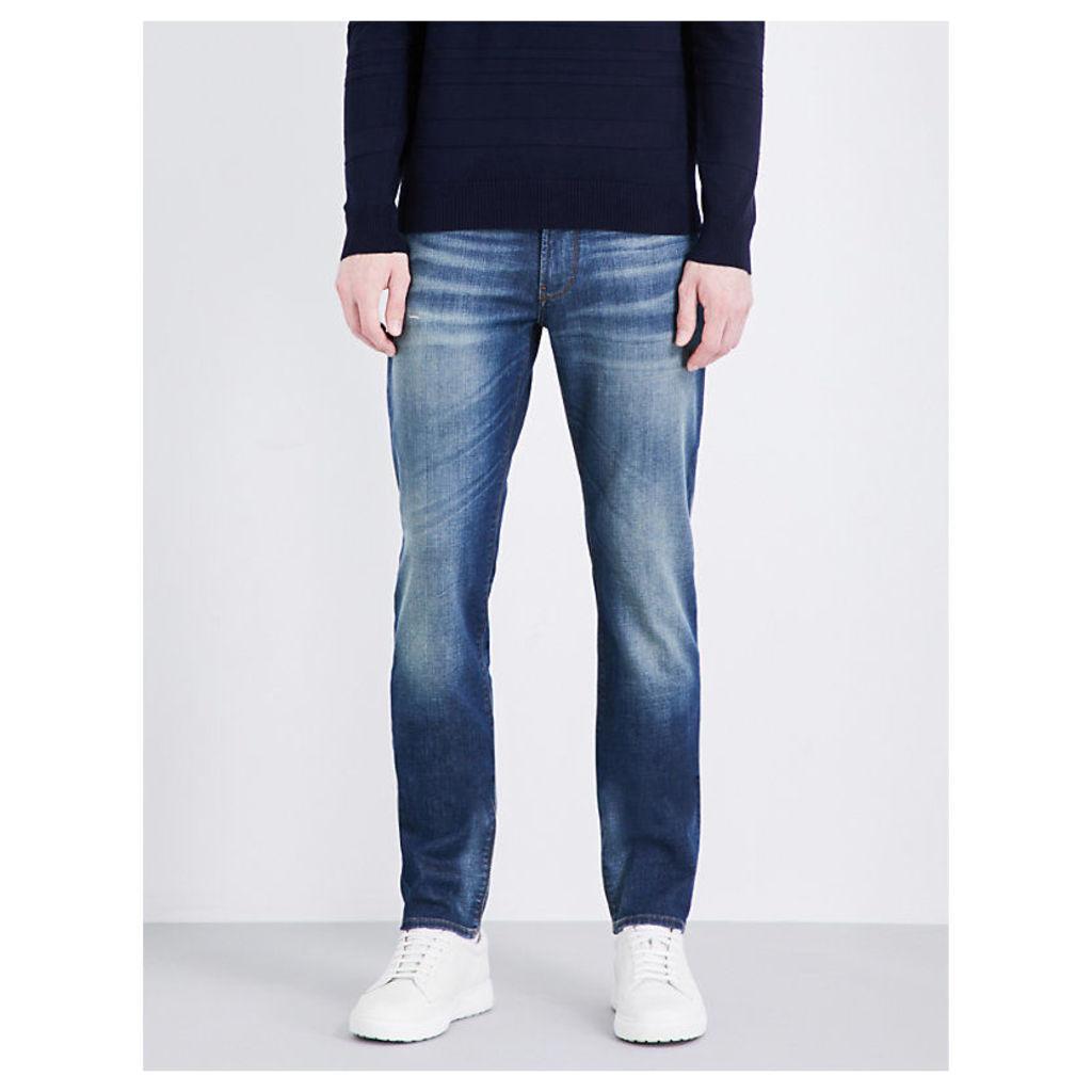 ARMANI JEANS Slim-fit straight jeans, Men's, Size: 3632, Antique Wash