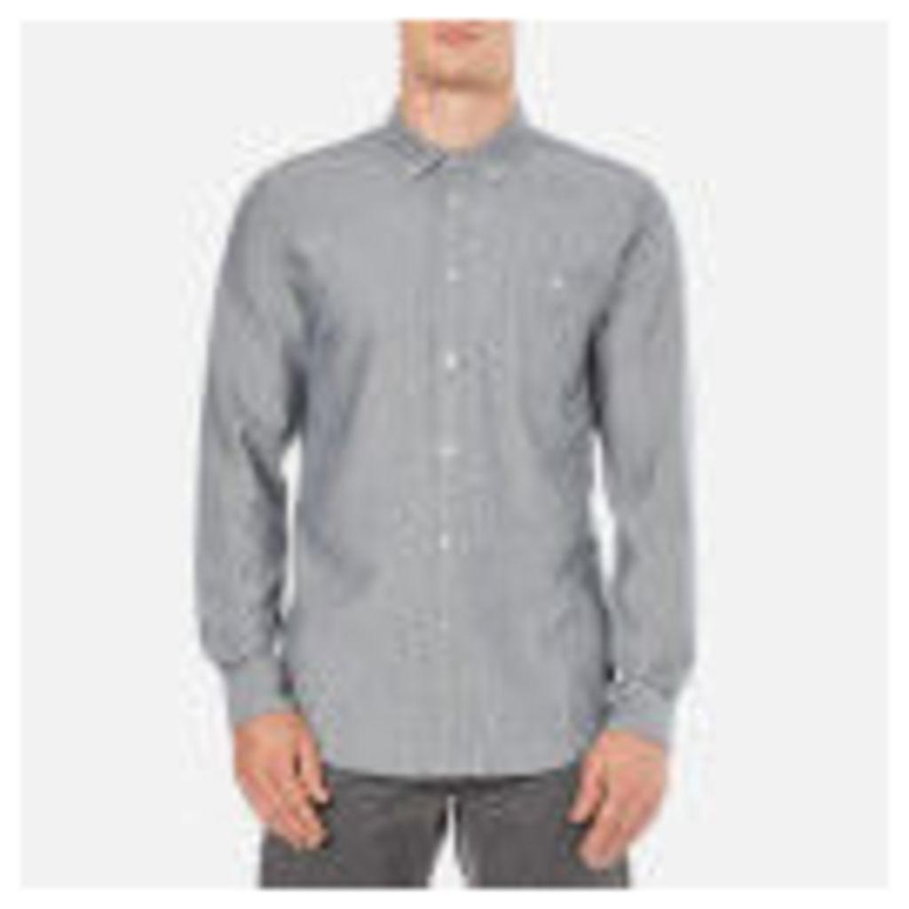OBEY Clothing Men's Wiseman Herringbone Shirt - Navy Multi - XL