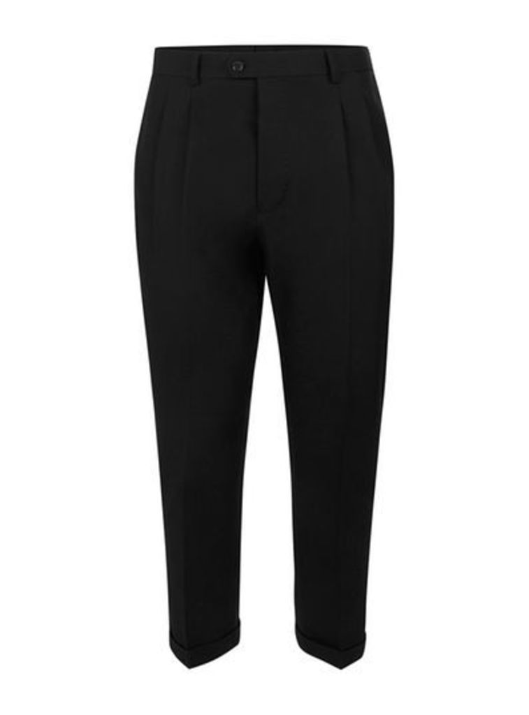Mens SELECTED HOMME Black Smart Trousers, Black