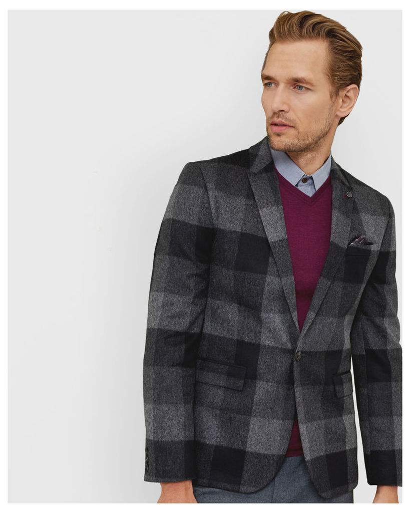 Ted Baker Statement checked jacket Grey