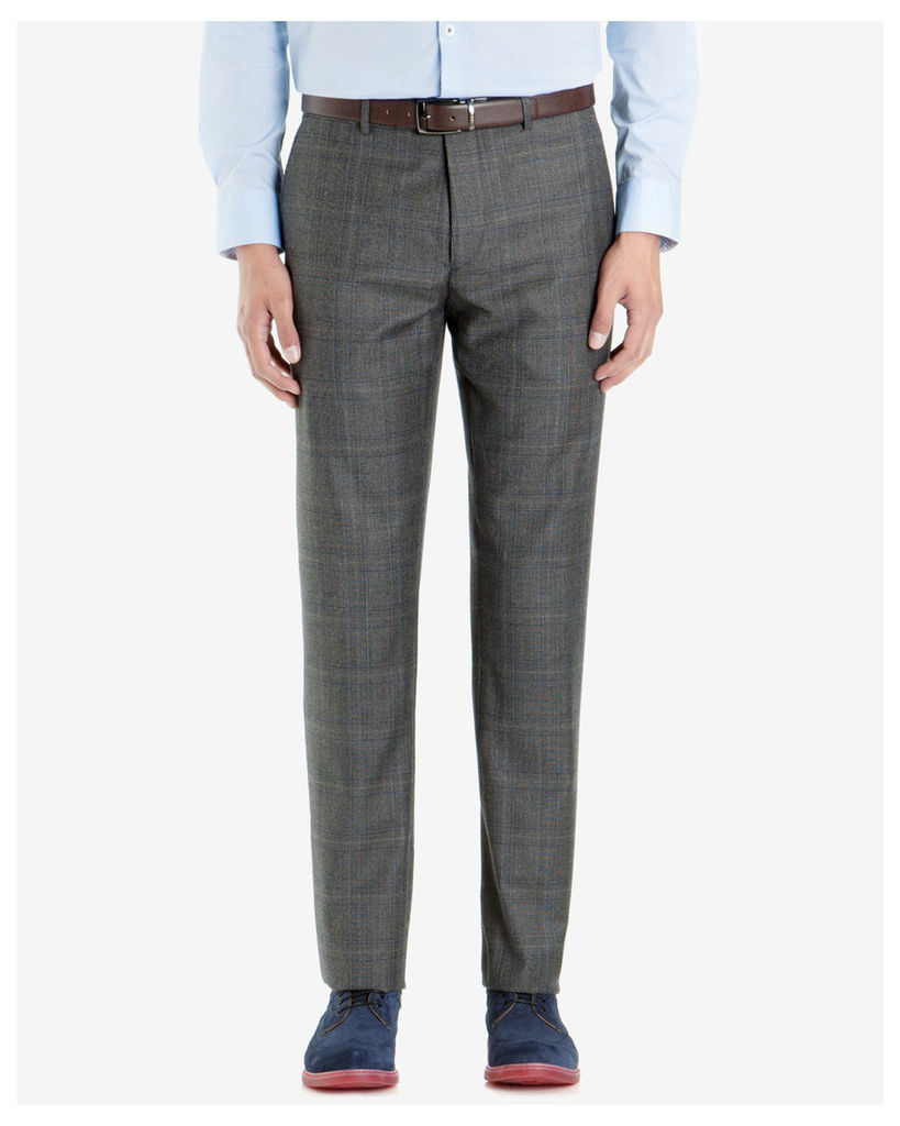 Ted Baker Deconstructed checked suit trousers Grey