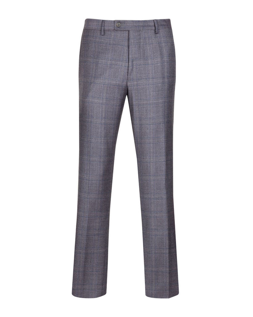 Ted Baker Deconstructed checked suit trousers Purple