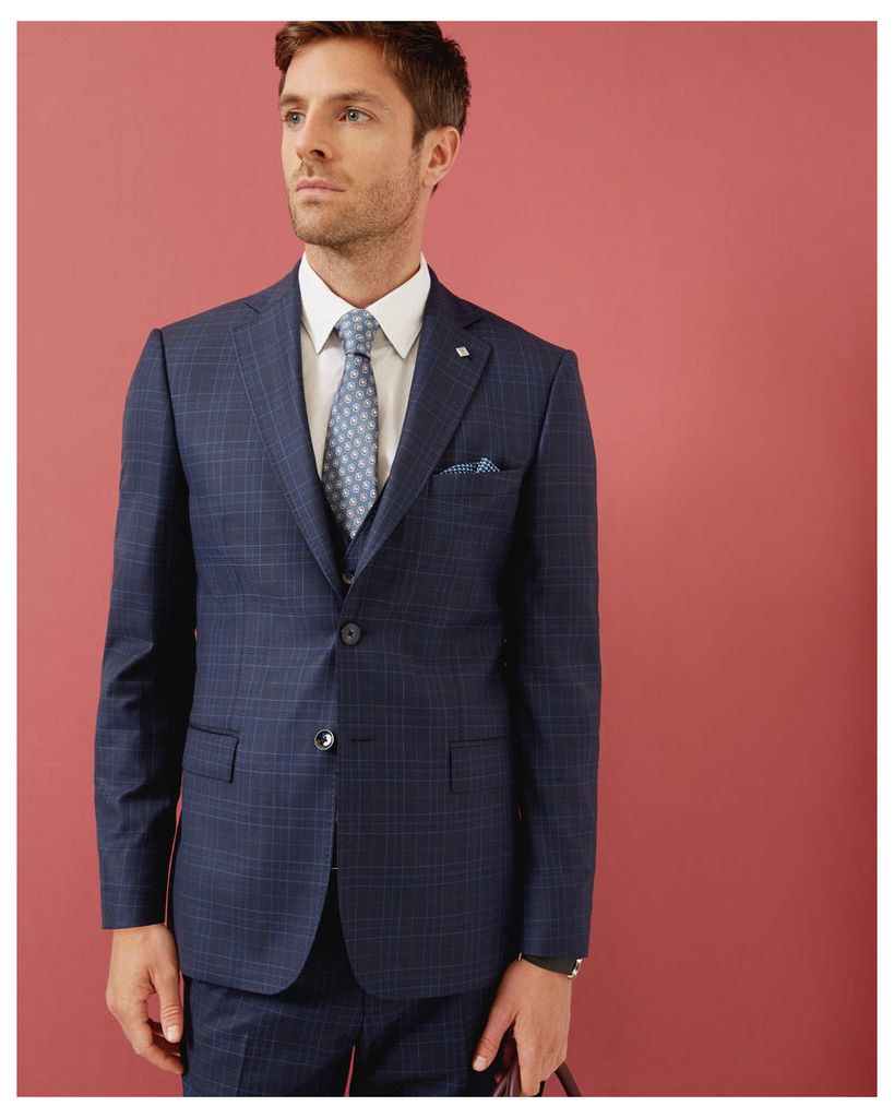 Ted Baker Checked wool jacket Blue