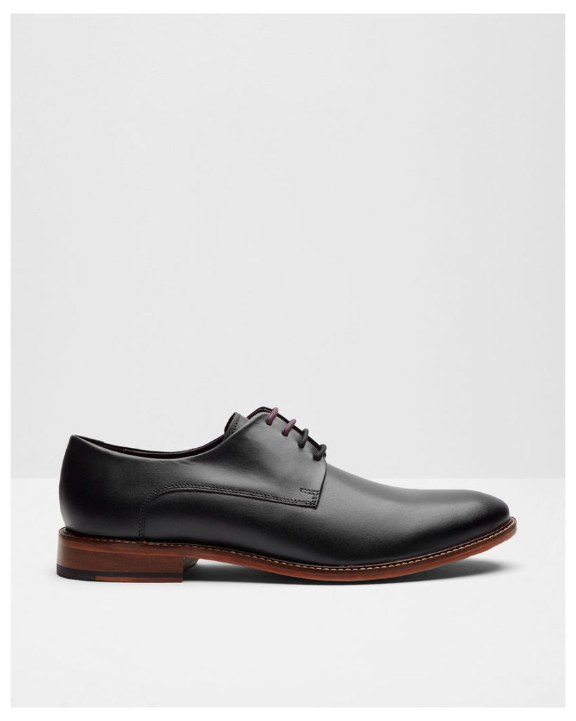 Ted Baker Classic leather derby shoes Black