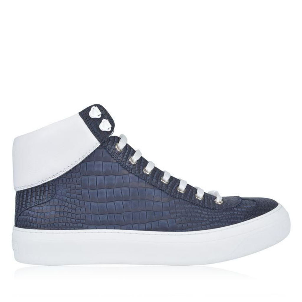Argyle Croc High Top Trainers