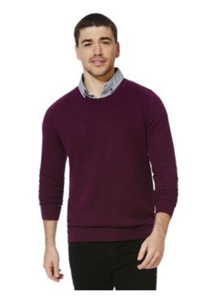 F&F Mock Shirt Layer Jumper, Men's, Size: Small