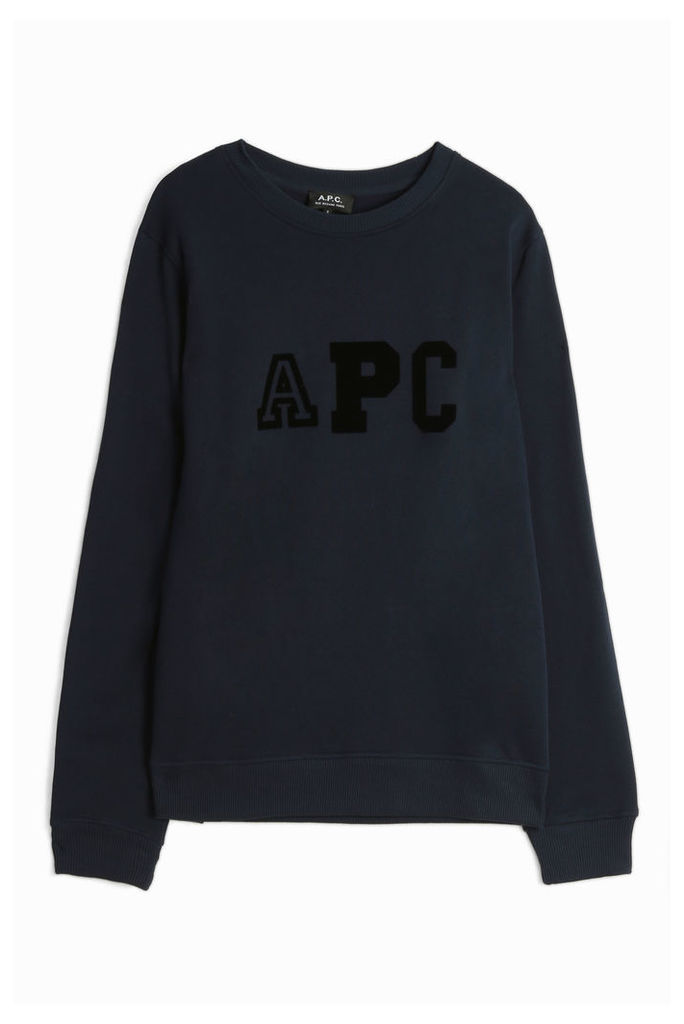 A.p.c. Men`s Apc Logo College Sweater Boutique1