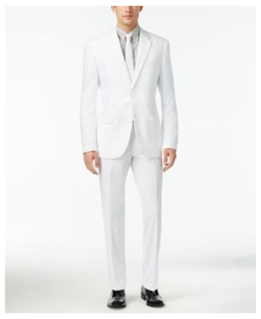OppoSuits Men's White Knight Slim-Fit Suit