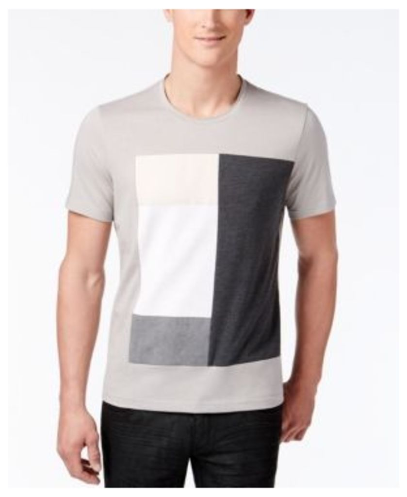 Inc International Concepts Men's Graphic Print T-Shirt with Faux Suede, Only at Macy's