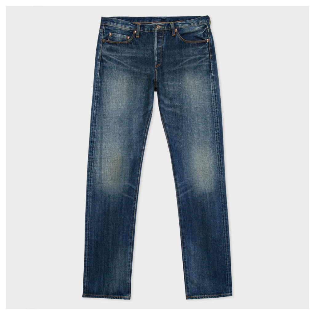 Men's Straight-Fit Antique-Wash Selvedge Red Ear Jeans