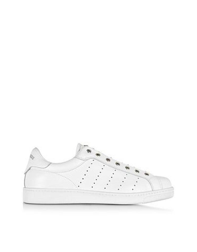 DSquared2 - Santa Monica White Leather Men's Sneaker w/Studs