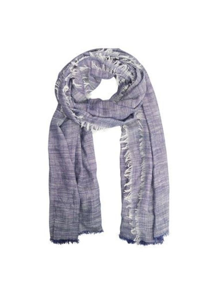 End-on-end cotton scarf