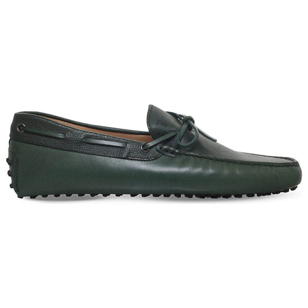 Tods 122 Two-Tone Leather Driving Shoes, Men's, EUR 43 / 9 UK MEN, Green