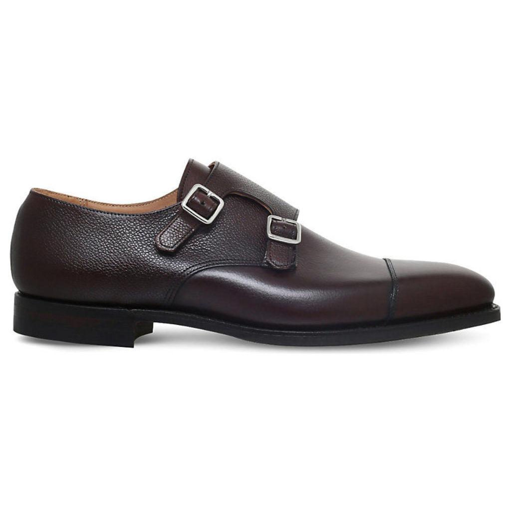 Crockett & Jones Lowndes Leather Double Monk Shoes, Men's, EUR 43 / 9 UK MEN, Dark Brown
