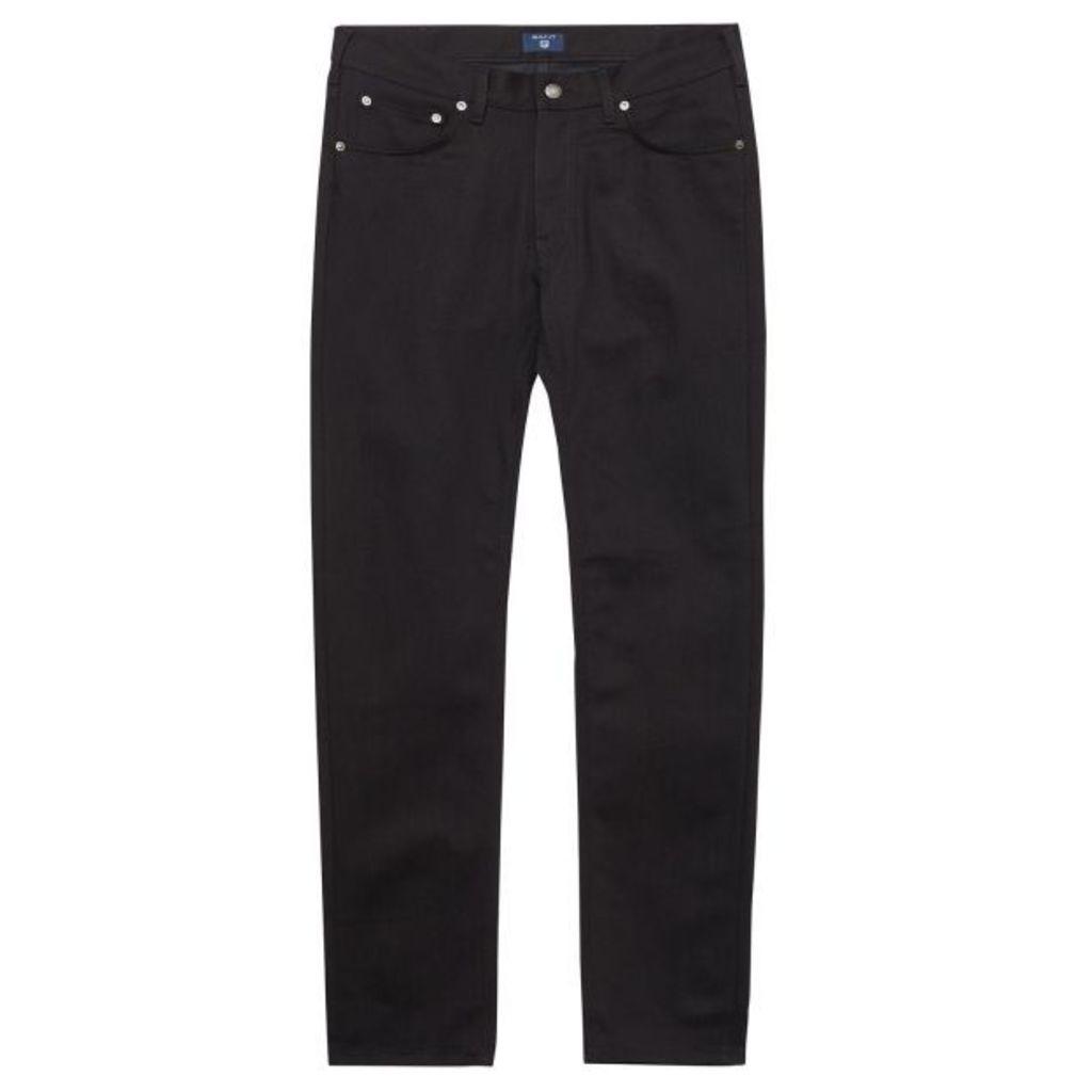 Regular Fit Black Jeans - Black Stone Ble