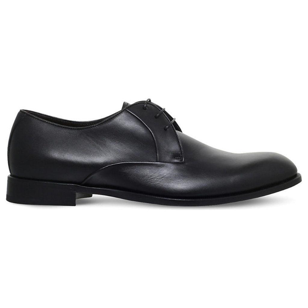 Ermenegildo Zegna Avenue Flex Leather Derbys, Men's, EUR 43 / 9 UK MEN, Black
