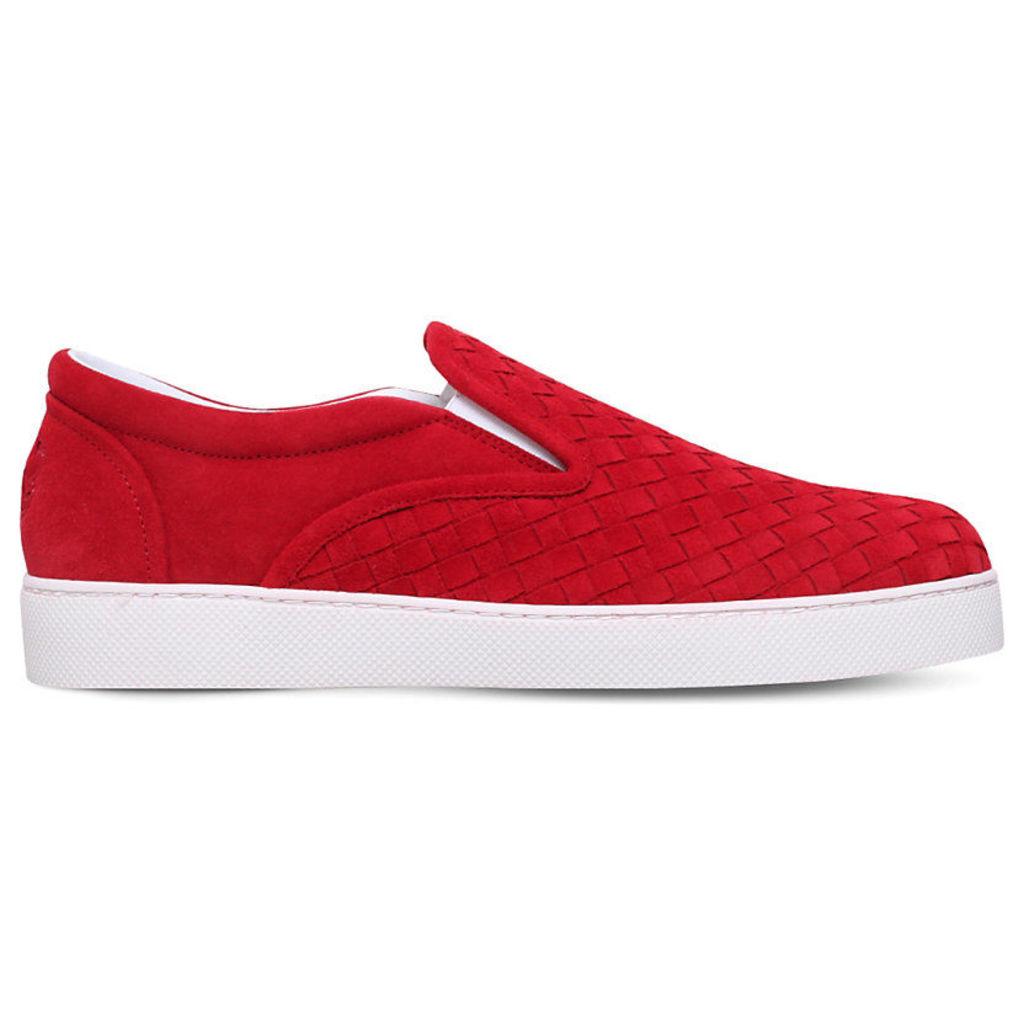 Bottega Veneta Dodger II Suede Skater Shoes, Men's, EUR 42 / 8 UK MEN, Red