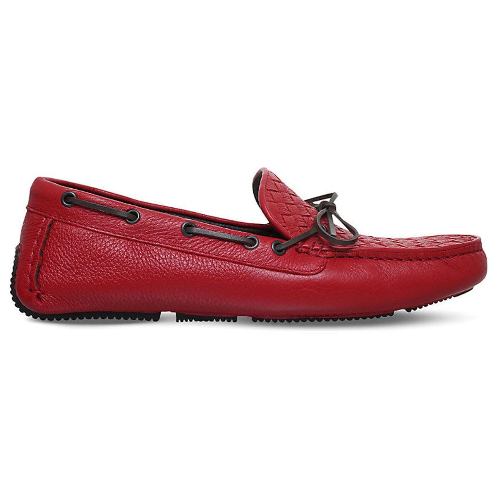 Bottega Veneta Patera II Cervo Washed Loafers, Men's, EUR 44 / 10 UK MEN, Red