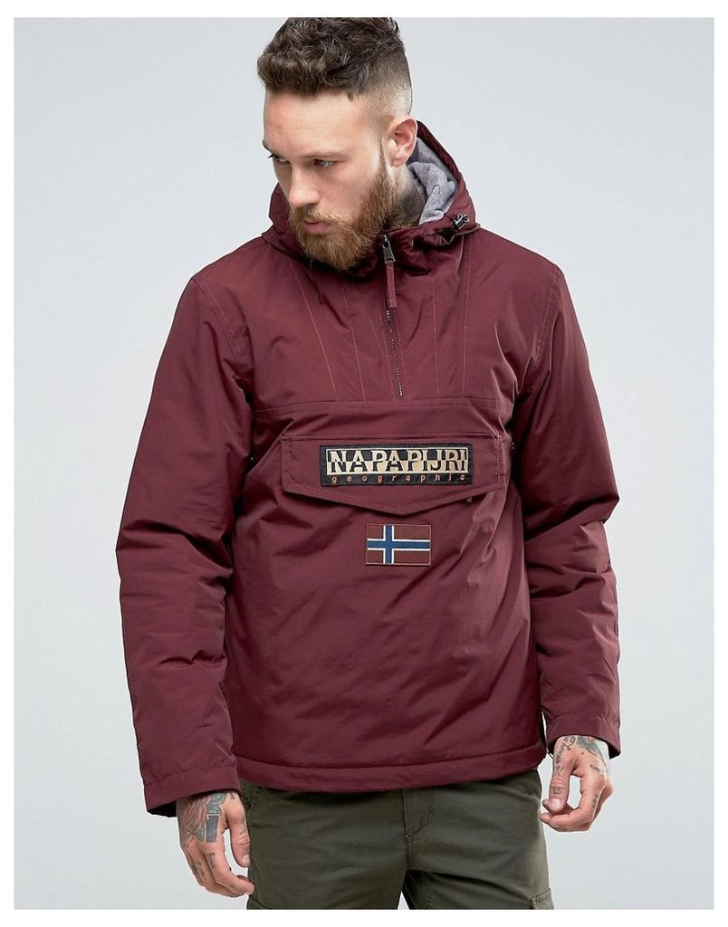 Napapijri Overhead Hooded Jacket Padded - Barolo