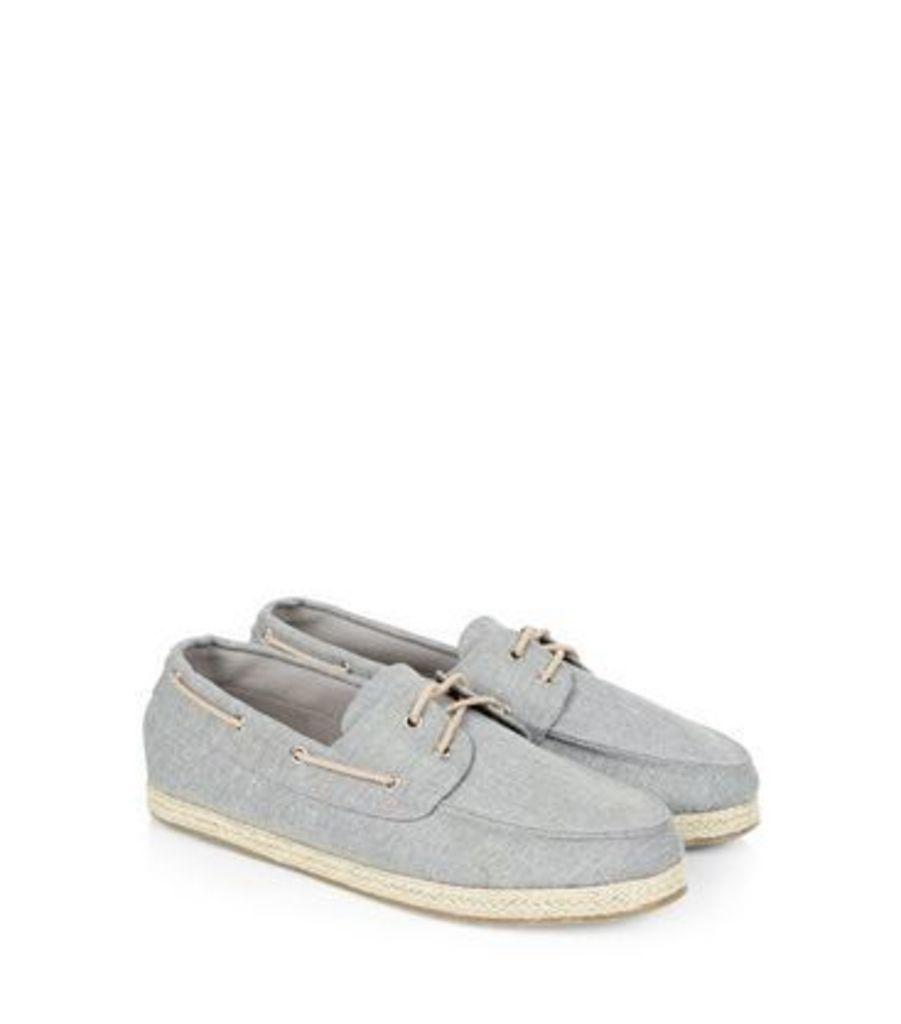 Grey Espadrille Boat Shoes