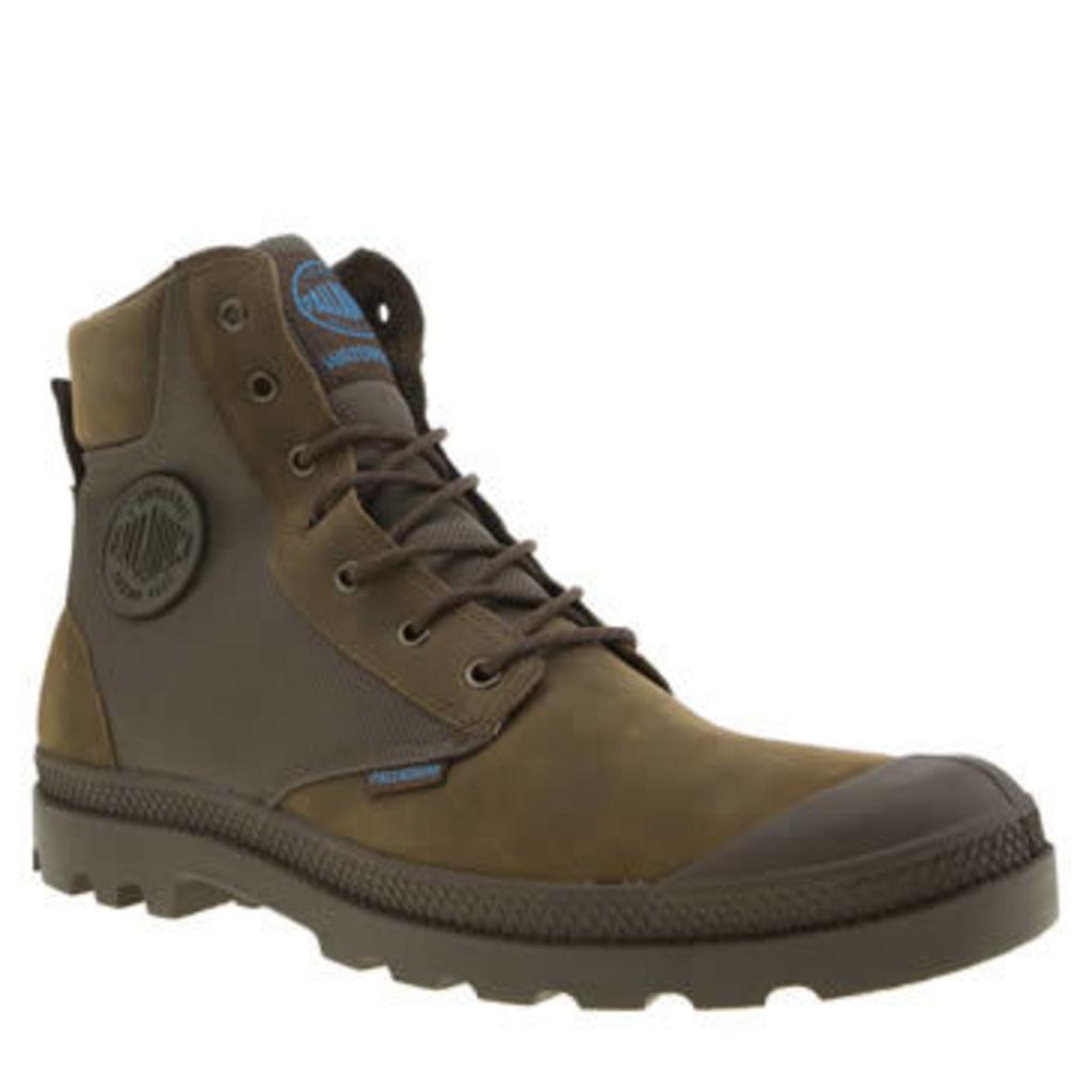 Palladium Brown Pampa Sport Cuff Mens Boots