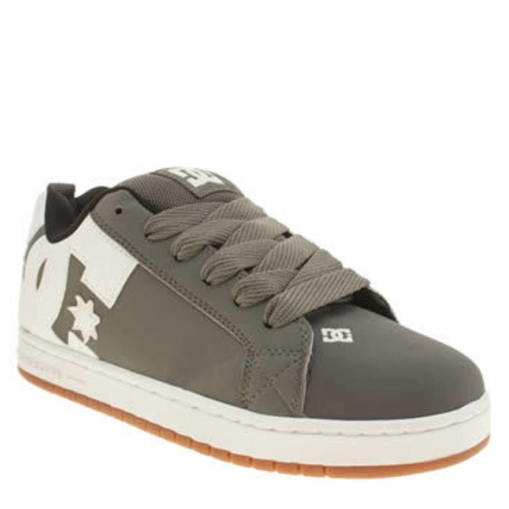 Dc Shoes Grey Court Graffik Se Mens Trainers
