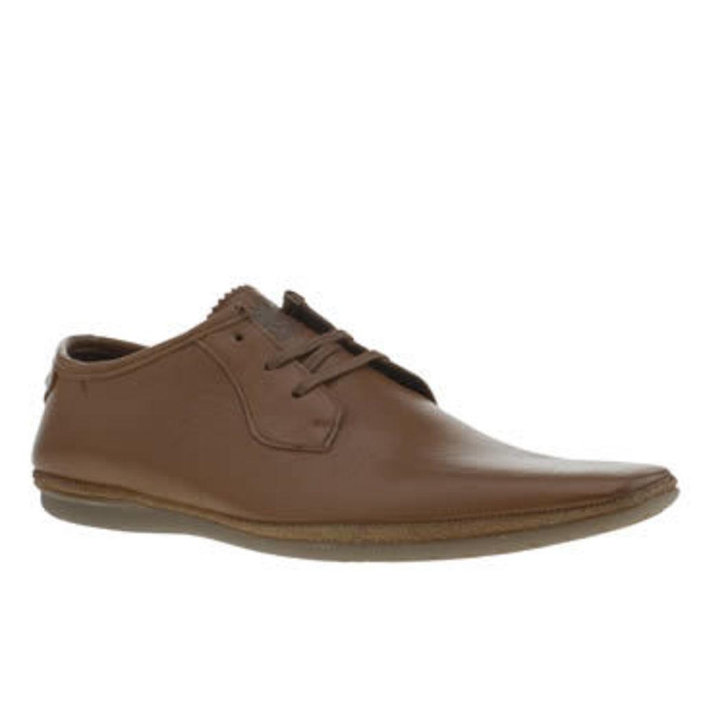 Base London Tan Pimple 3eye Lace Mens Shoes