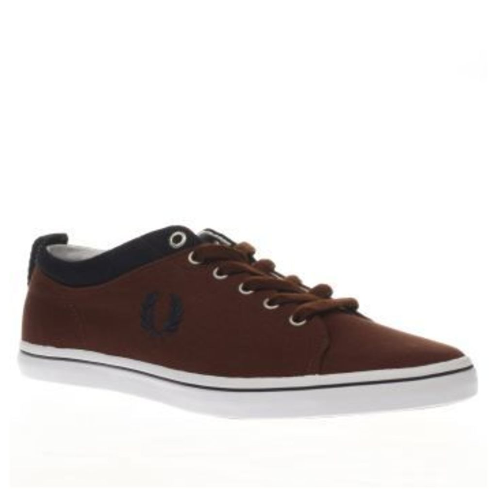 Fred Perry Brown Hallam Mens Trainers