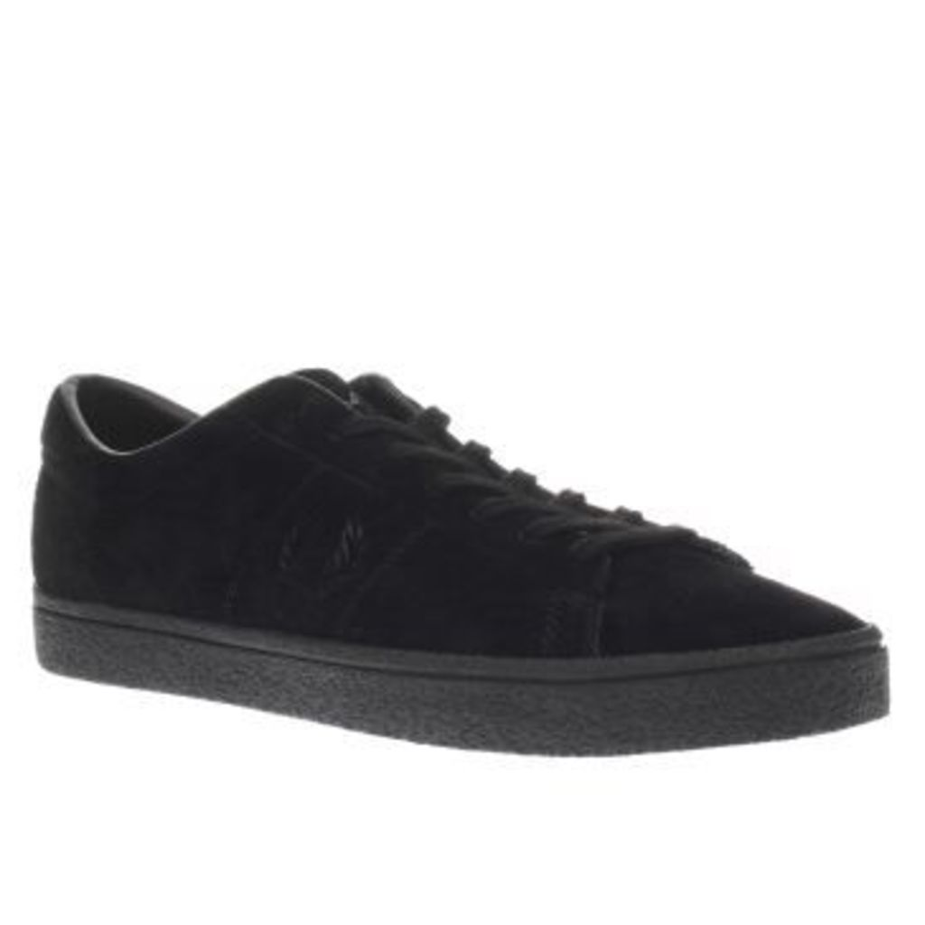 Fred Perry Black Spencer Suede Crepe Mens Trainers