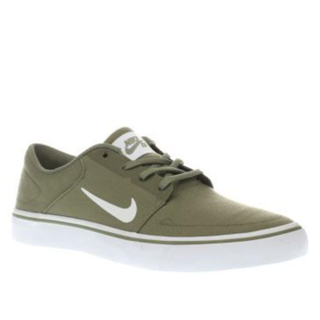 Nike Sb Green Portmore Mens Trainers