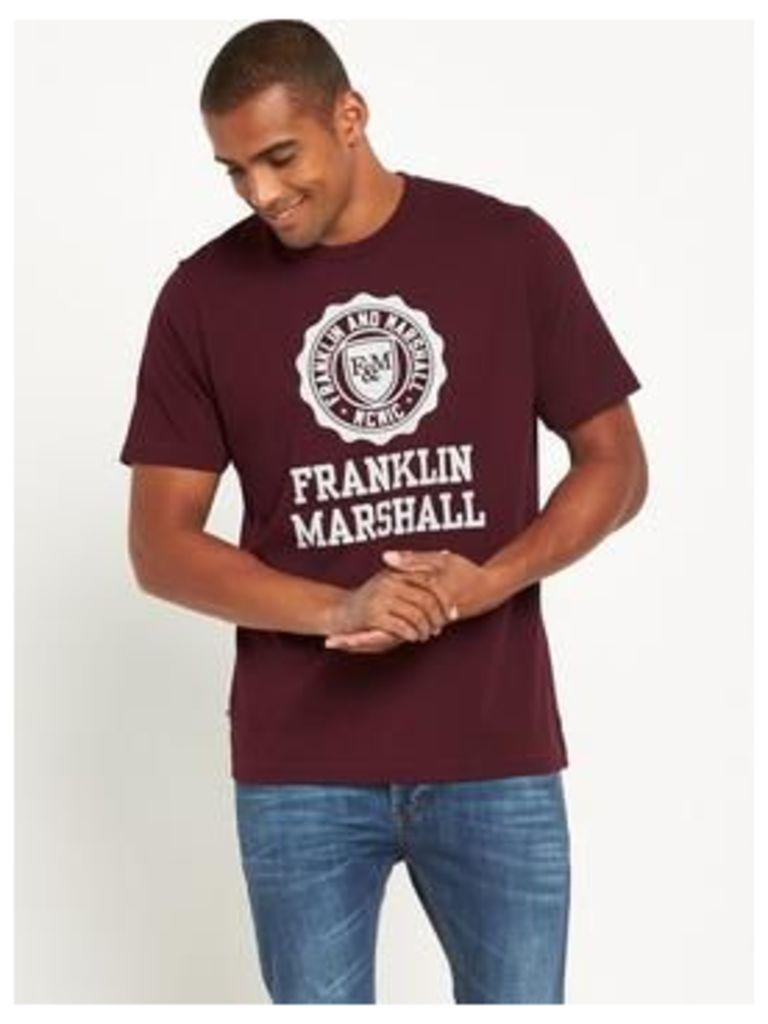 Franklin & Marshall Large Logo Ss Tshirt