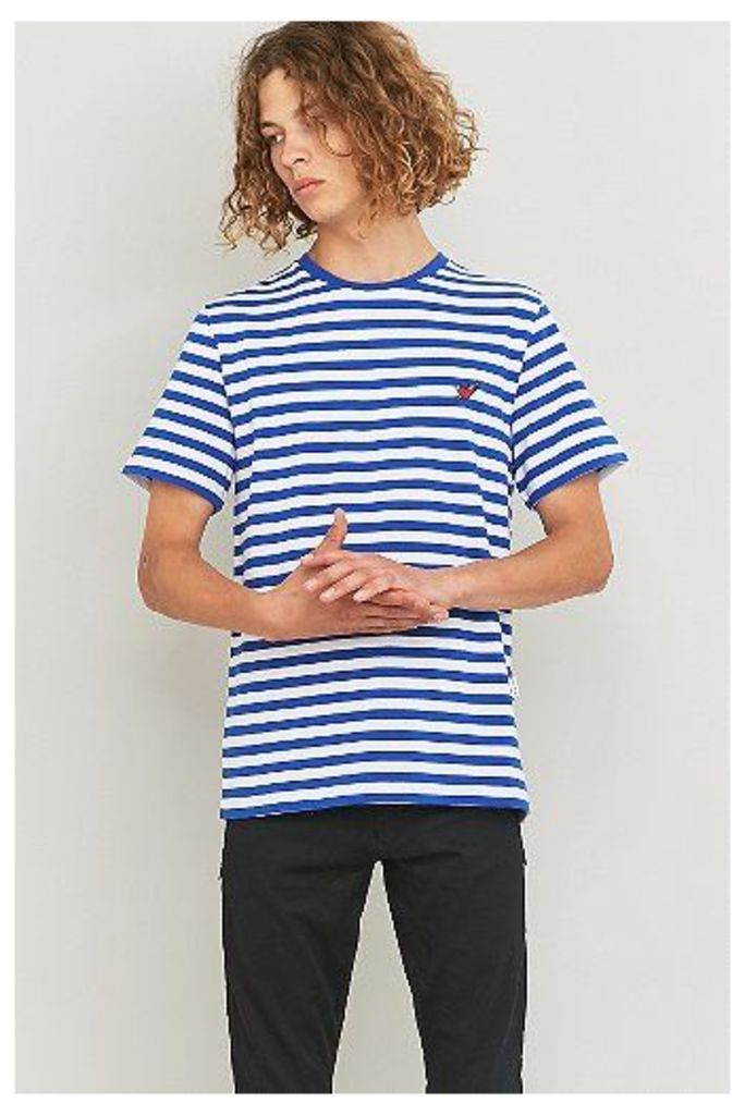 Shore Leave Blue and White Stripe Heart Patch T-shirt, Blue