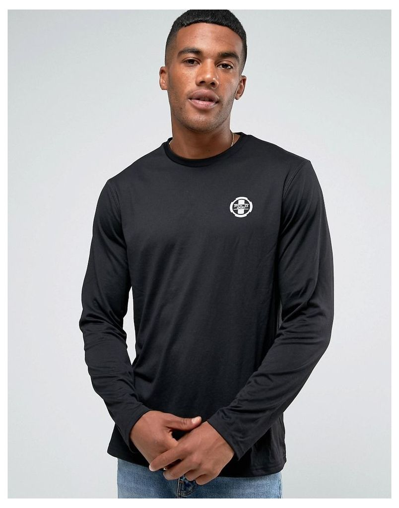 Polo Sport by Ralph Lauren Logo Regular Fit Long Sleeve Top in Black - Black