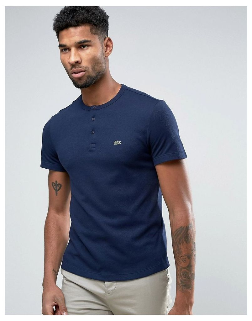Lacoste Live T-Shirt With Pocket In Navy - Navy