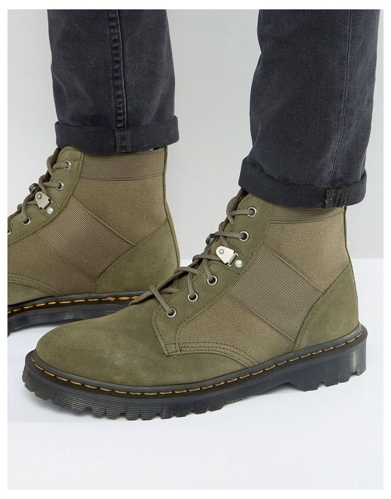 Dr Martens Beam Boots In Khaki - Green