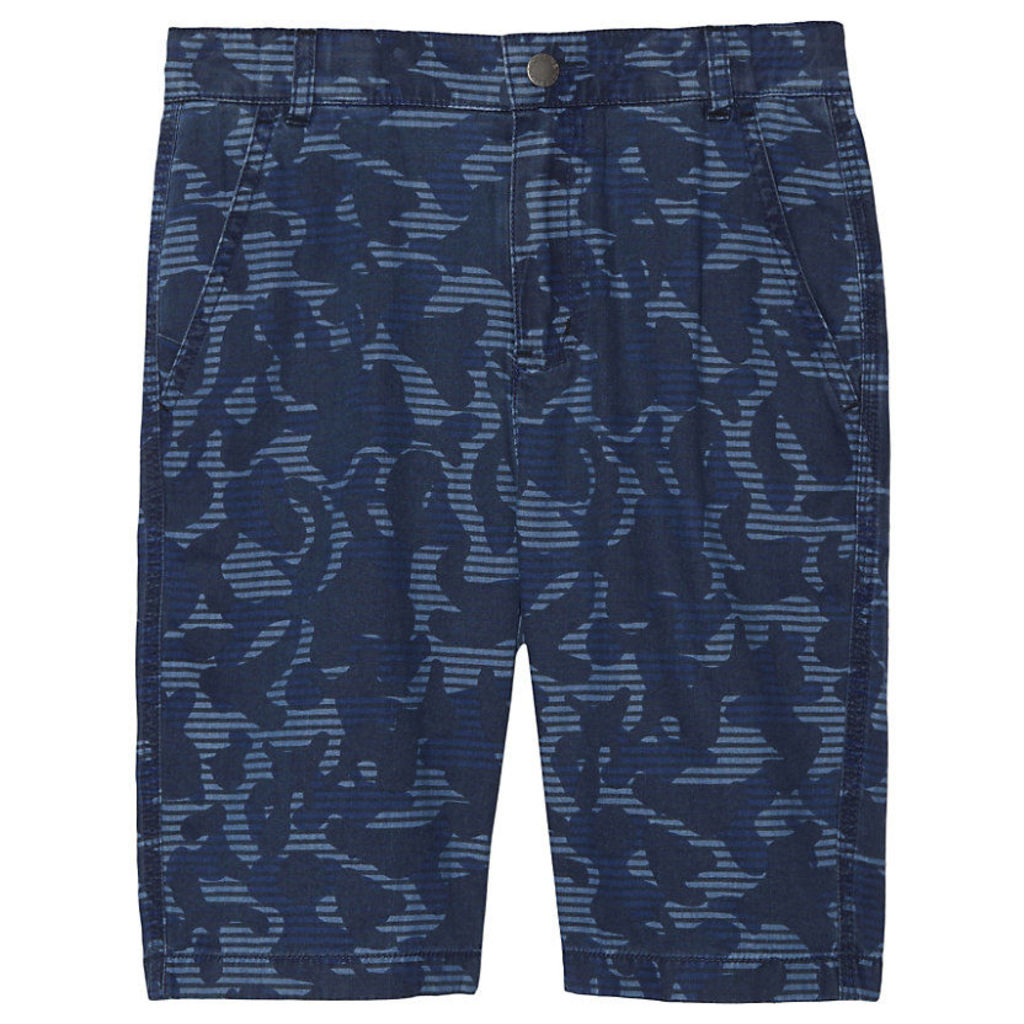 STELLA MCCARTNEY Lucas camouflage cotton shorts 4-14 years, Boy's, Size: 12 years, Camo Blue Pr