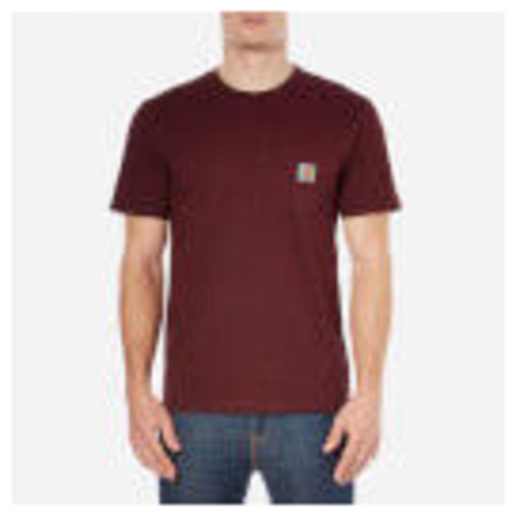 Carhartt Men's Short Sleeve Pocket T-Shirt - Chianti Heather - S