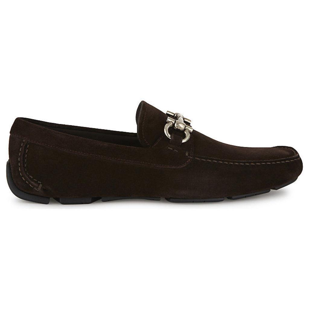 SALVATORE FERRAGAMO Parigi leather driving shoes, Men's, Size: EUR 40.5 / 6.5 UK Men, Dark Brown