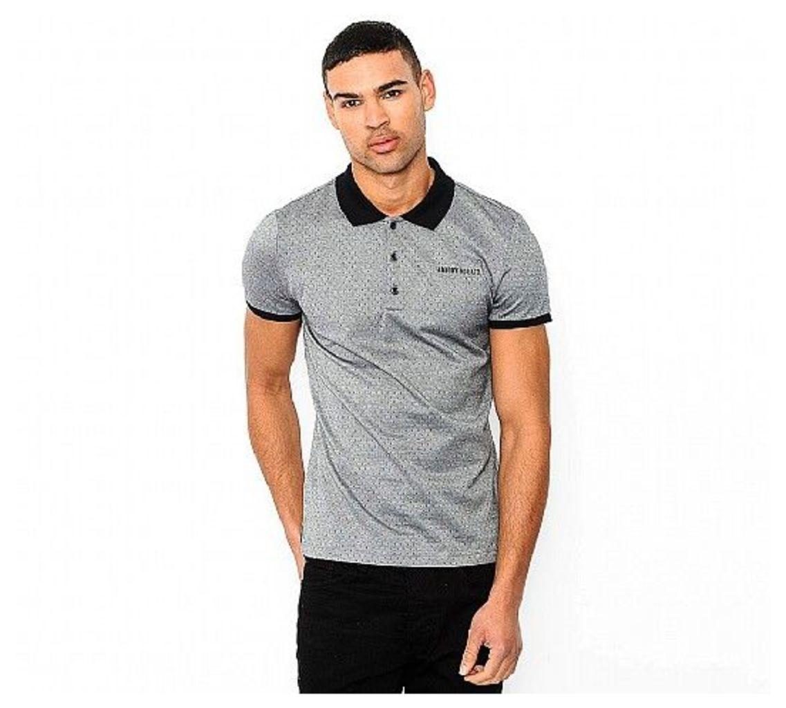 Woven Jacquard Polo Shirt