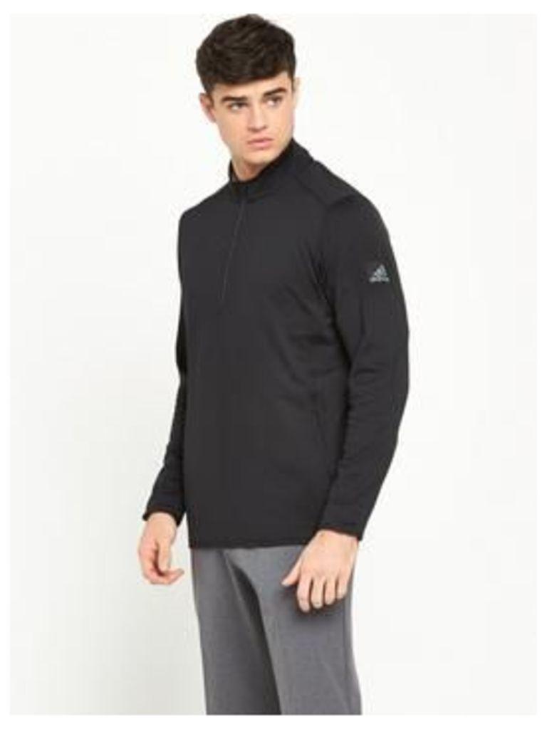 Adidas Adidas Mens Golf Climaheat 1/2 Zip Jacket