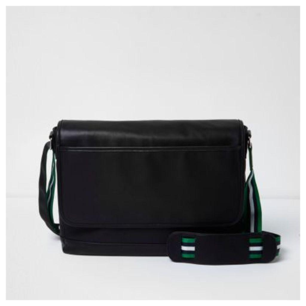 River Island Mens Black crossbody satchel bag