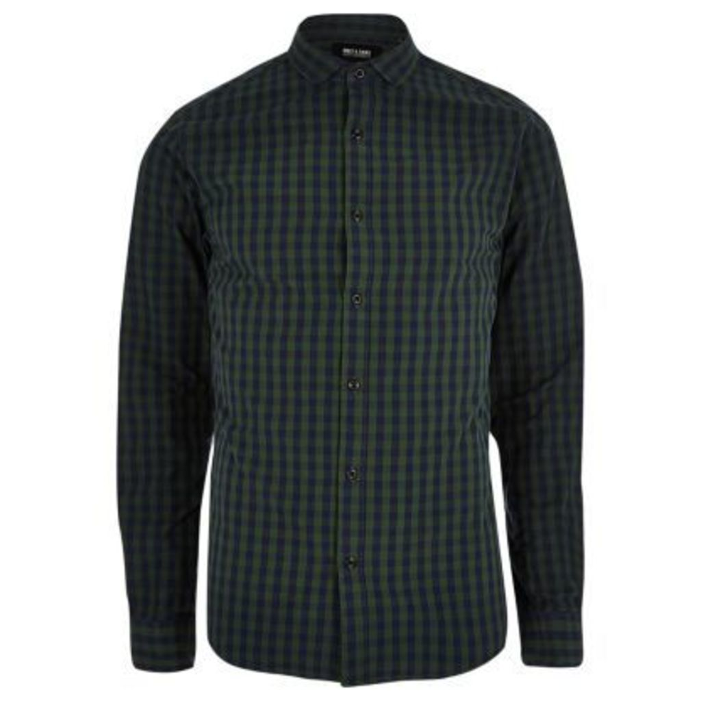 River Island Mens Navy Only & Sons check shirt