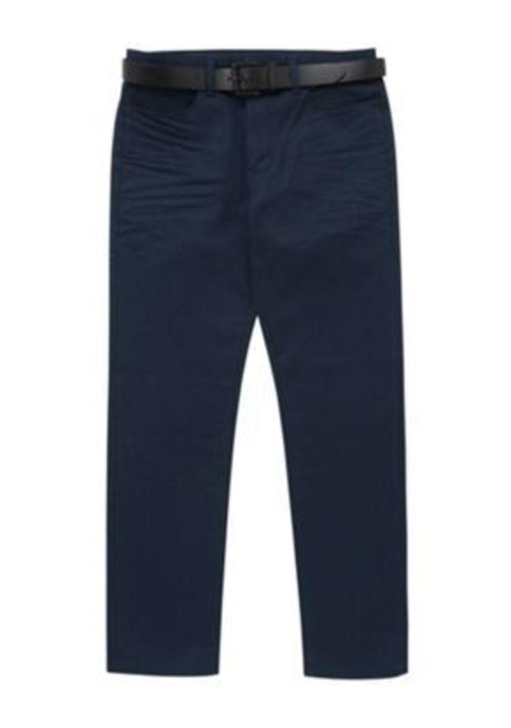 F&F Coated Straight Leg Jeans with Belt, Men's, Size: 30 Waist 34 Leg