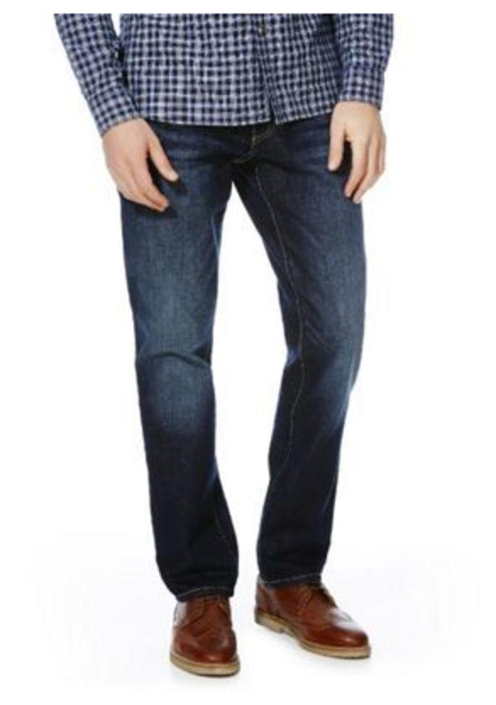 F&F Straight Leg Jeans, Men's, Size: 38 Waist 32 Leg