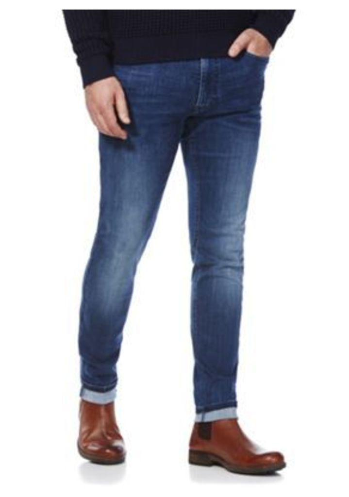 F&F Super Skinny Performance Stretch Jeans, Men's, Size: 34 Waist 36 Leg