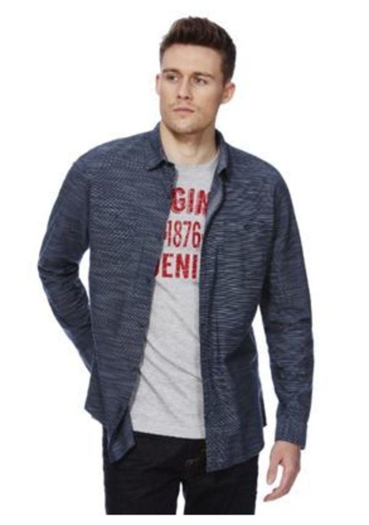 F&F Striped Shirt and T-Shirt Set, Men's, Size: Large