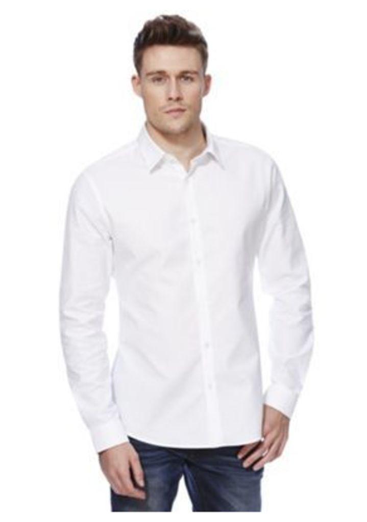 F&F Textured Slim Fit Shirt, Men's, Size: Large