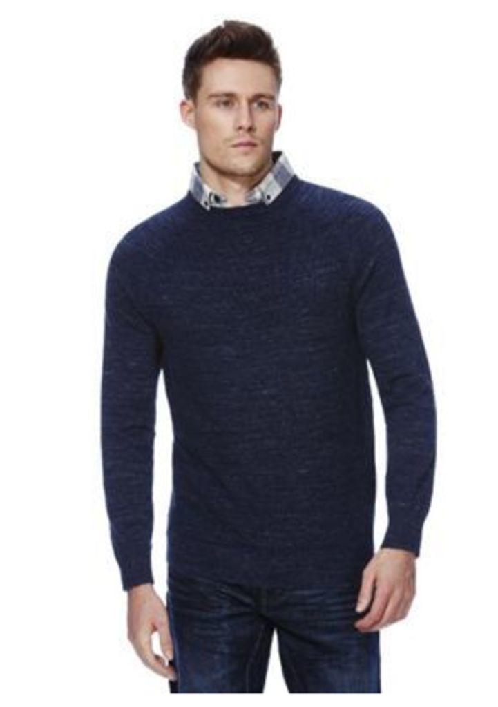 F&F Mock Shirt Collar Jumper, Men's, Size: Large